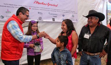 Entrega de viviendas en Ocuilan, Estado de México, en beneficio de familias damnificadas por el #19S