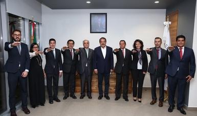 La titular del Indesol tomó protesta de su nuevo cargo, el cual fue otorgado por el secretario de Desarrollo Social, Eviel Pérez Magaña.