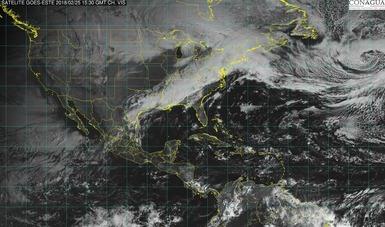 Se pronostican lluvias fuertes para Tamaulipas, San Luis Potosí, Hidalgo y Puebla.