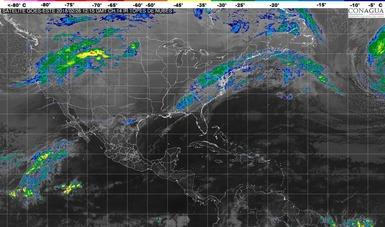 Se prevén lluvias fuertes en Tamaulipas, San Luis Potosí, Hidalgo, Puebla y Estado de México.
