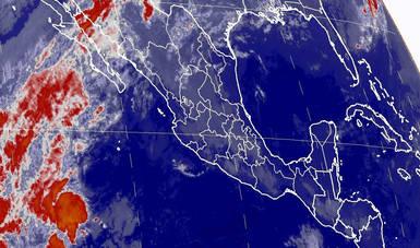Se pronostican lluvias muy fuertes para Chihuahua y fuertes para Baja California, Sonora, Durango y Sinaloa.