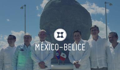 """En el marco de su visita, también se llevó a cabo la presentación del diseño de la """"Sala México"""" en el complejo polideportivo Marion Jones en la Ciudad de Belice."""