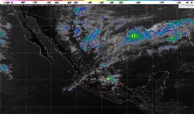 Se prevén tormentas locales intensas, actividad eléctrica y posibles granizadas en Tamaulipas, Veracruz y Puebla.