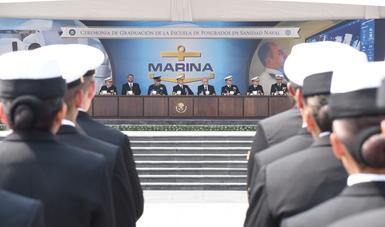 Graduación de 62 Oficiales de Posgrados en Sanidad Naval de la Secretaría de Marina-Armada de México