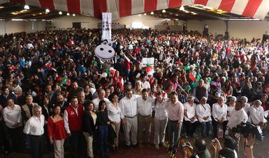 Srio. Javier García Bejos en evento en Tlaxcala