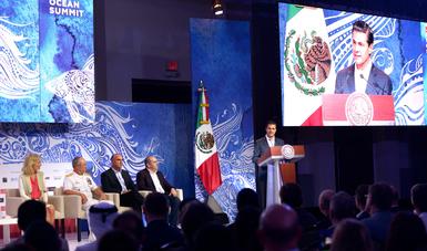 El Primer Mandatario compartió cuatro recomendaciones de política pública para lograr una mejor gestión de los mares y océanos.