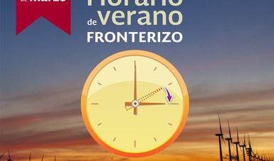 Inicia el Horario de Verano 2018 de la franja fronteriza norte el próximo domingo.