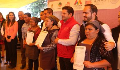 Subsecretario García Bejos en evento en el estado de México