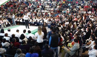 Srio. Eviel Pérez Magaña en evento en Querétaro