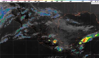 Se prevén tormentas muy fuertes en regiones de Puebla, Veracruz, Oaxaca y Chiapas durante las próximas horas.