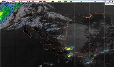 Se prevén tormentas locales fuertes en Veracruz, Oaxaca, Chiapas, Tabasco y Quintana Roo por el Frente Frío Número 36.