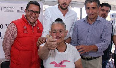 Entrega de viviendas a familias de Tecalitlán, Jalisco.