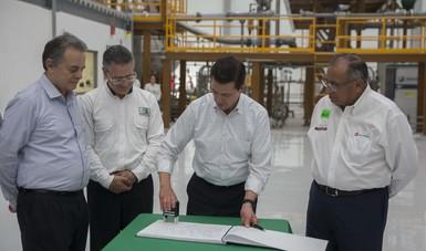 El Primer Mandatario inauguró el Centro de Tecnología para Aguas Profundas del Instituto Mexicano del Petróleo.
