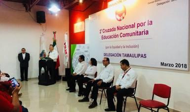Firman convenio Conafe y gobierno y DIF de Tamaulipas
