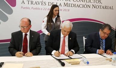 Puebla es la primera entidad donde se firma este convenio, mismo que se replicará a nivel nacional en beneficio de los acreditados