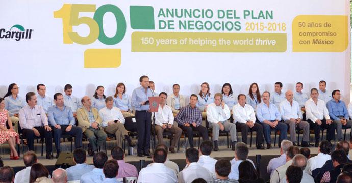 Anuncia Cargill México Plan de Negocios 2015-2018