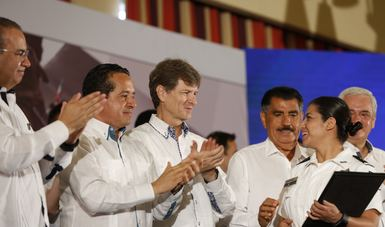 """El titular de la Sectur afirmó que la vocación de México es el turismo y dijo: """"estamos trabajando para hacer de los destinos y localidades turísticas, espacios seguros y sostenibles""""."""