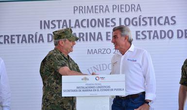 construcción de la infraestructura naval en Puebla
