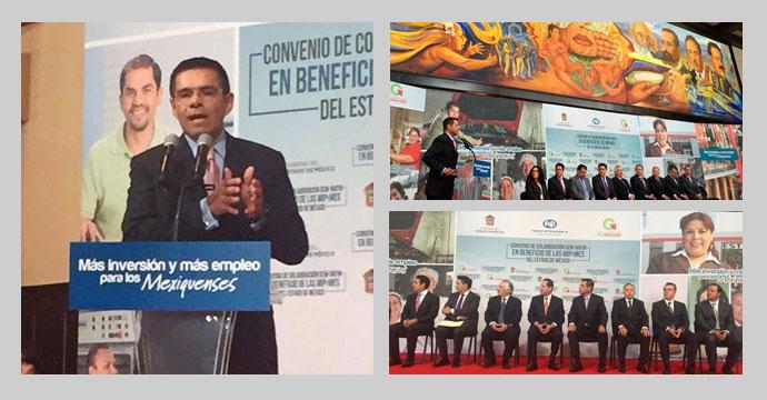 El Gobierno del Estado de México, INADEM y NAFINSA impulsan a las MIPYMES mexiquenses