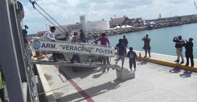 SEMAR, brinda  apoyo a Náufragos