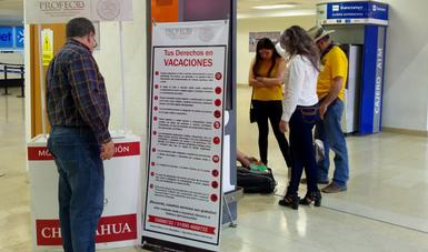 En aeropuertos se reclamó un monto de 2 millones 329 mil 508 pesos y se recuperaron 2 millones 665 mil 233 pesos en favor de los consumidores, en tanto, vía Conciliaexprés, se reclamaron 549 mil 154 pesos y se recuperó un total de 647 mil 775 pesos.