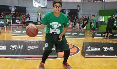 El joven de 14 tiene altas expectativas de ser uno de los seleccionados en Academia Básquetbol.