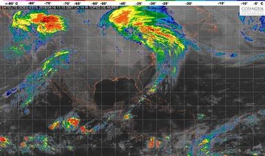 Para Chiapas, se pronostican lluvias fuertes en las próximas horas.