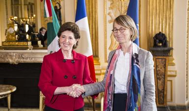 La secretaria de Cultura del Gobierno Federal, María Cristina García Cepeda, se reunió este lunes con la ministra de Cultura de Francia, Françoise Nyssen