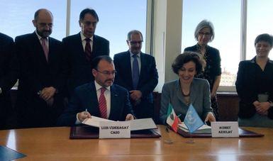 Firman el gobierno de México y la UNESCO Acuerdo para crear un Centro Regional de Seguridad Hídrica