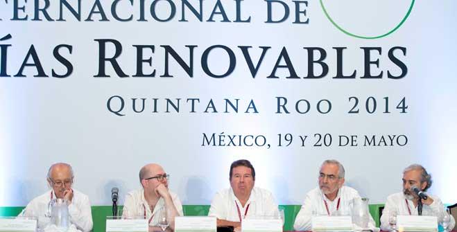 El Subsecretario de Planeación y Transición Energética de la Secretaría de Energía, Maestro Leonardo Beltrán Rodríguez durante la clausura de los trabajos del Foro Internacional de Energías Renovables.