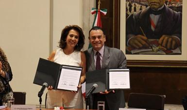 La Segob y el Indesol signaron un convenio que reconoce la trascendencia de construir herramientas y sumar esfuerzos para fortalecer y capacitar a las OSC en materia de Derechos Humanos