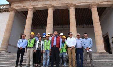 """En el museo del Ágora """"José González Echeverría"""" se realizan acciones del Fondo Minero para preservar uno de los monumentos arquitectónicos más importantes del municipio."""