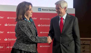 Firma Secretaría de Economía y Santander Convenio de Concertación para fomentar el crecimiento empresarial