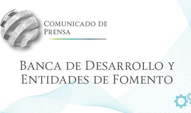Comunicado de Prensa de Banca de Desarrollo y Entidades de Fomento