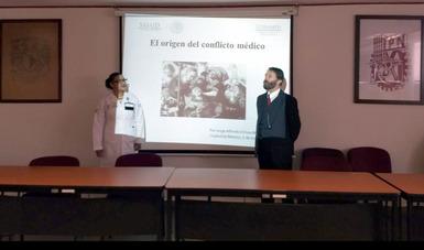 """Dr. Jorge Ochoa Moreno, Director de Proyectos Especiales de la CONAMED, participó como ponente en el Programa de Capacitación a personal de 1er nivel de atención  médica, evento organizado por el Centro de Salud T-III """"Dr. José Zozaya""""."""