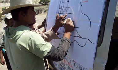 Voluntario trabajando en campo