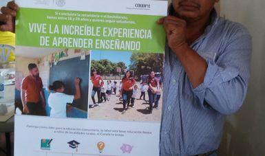 Apoyan autoridades municipales la captación de jóvenes veracruzanos para el Conafe.