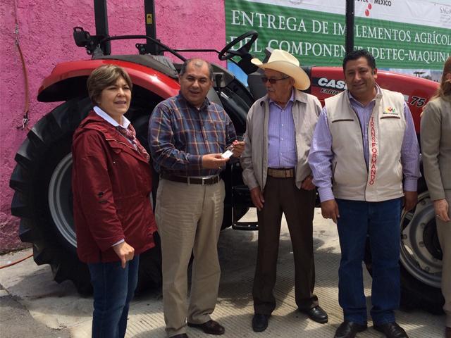 Entrega SAGARPA incentivos para la modernización y mecanización del campo por 62 mdp en Hidalgo
