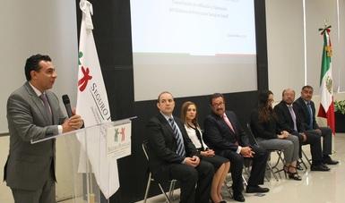 El Comisionado Nacional del Seguro Popular, Antonio Chemor Ruiz durante el arranque de los trabajos de la Capacitación Normativa, Operativa y Técnica de Afiliación y Operación del Sistema de protección Social en Salud.