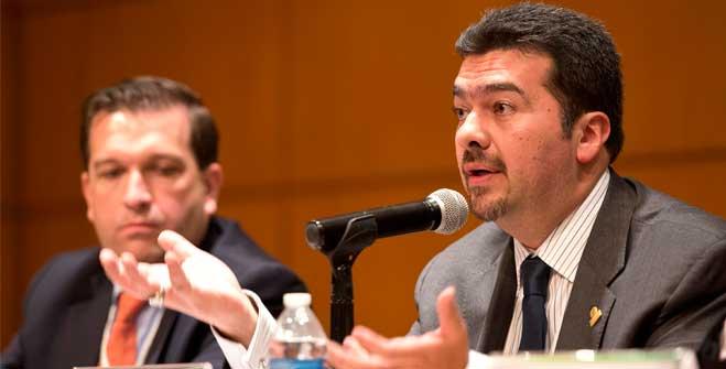 Leonardo Beltrán Rodríguez, subsecretario de Planeación y Transición Energética, durante la Clausura de la Primer Conferencia de Eficiencia Energética en Ciudades