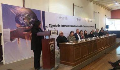 Toma de protesta CICC y presentación del estudio de tecnologías de bajo carbono para el transporte público en Chihuahua. Fuente: Periódico El Mexicano