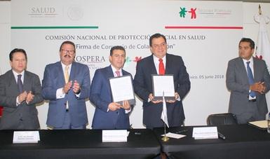 La Comisión Nacional de Protección Social en Salud y la Coordinación Nacional de PROSPERA, firmaron Convenio de Colaboración para sumar a 2.5 millones de mexicanos de la comunidad PROSPERA a los servicios de salud que brinda el Seguro Popular.