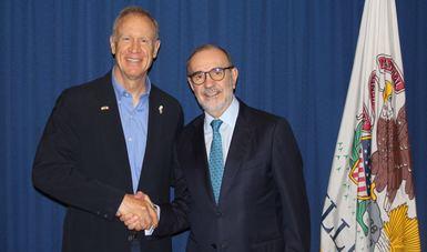 El Subsecretario Sada sostuvo un encuentro con el gobernador de Illinois, Bruce Rauner. Ambos coincidieron en la importancia de la relación económica entre México y ese estado.