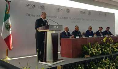 Se lleva a cabo la Firma del Protocolo Nacional de Actuación-Destrucción de Plantíos Ilícitos