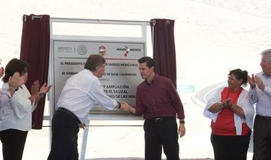 El Primer Mandatario entregó el tramo Tecate –San Antonio de las Minas de la carretera Tecate-El Sauzal.