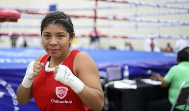 """Daniela """"La China"""" Salinas, cumplió su sueño al conquistar la medalla de oro en boxeo dentro de la categoría femenil 60 kg, en la Olimpiada Nacional y Nacional Juvenil 2018."""