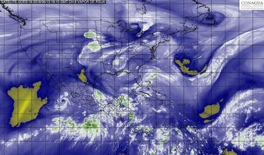 Esta tarde la tormenta tropical Bud se ubicó a 240 km al este-noreste de Isla Socorro, Colima.