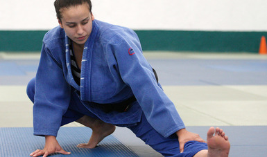 La judoca de 21 años se siente doblemente motivada para hacer un buen papel
