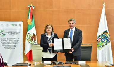 Suscriben SFP y Gobierno de Puebla Acuerdo de Coordinación para prevenir hechos de corrupción