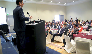 Juan Carlos Baker, en conferencia con el Comité Conjunto para la Mejora del Ambiente de Negocios y del Acuerdo de Asociación Económica